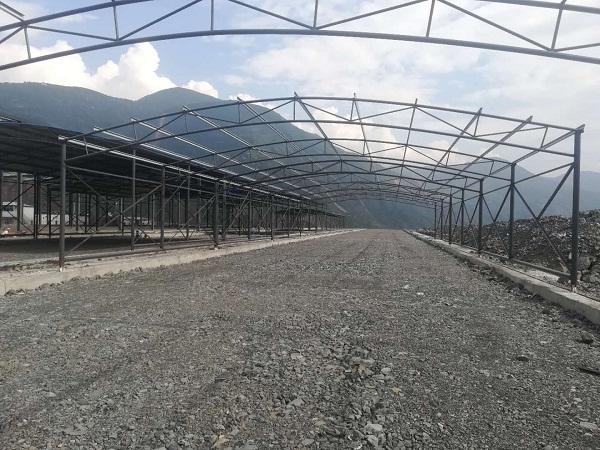 工程施工:中国三峡集团白鹤滩水电站大件堆场钢结构及附属工程